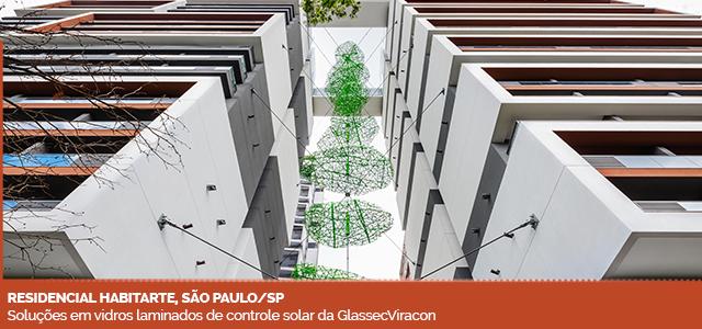 Residencial Habitarte, São Paulo/SP. Soluções em vidros laminados de controle solar da GlassecViracon