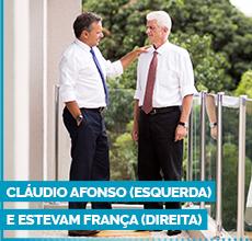 Cláudio Afonso (esquerda) e Estevam França (direita)