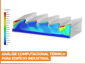 Análise computacional térmica para edifício industrial
