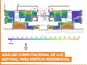 Análise computacional de luz natural para edifício residencial